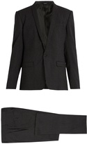 Dolce & Gabbana Shawl-collar pin-dot print wool suit