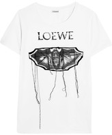 Loewe Embroidered Printed Stretch-cotton T-shirt - White