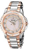 Bulova Ladies Two-Tone Diamond Dial Bracelet Watch, Rosetone