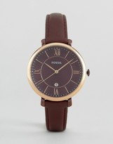 Fossil Jacqueline Red Leather Watch