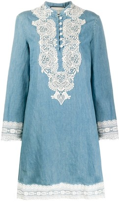 Gucci Lace Detail Shift Dress