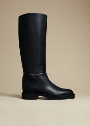 KHAITE The Derby Boot in Black Leather