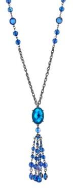 2028 Black-Tone Tassel Necklace
