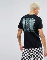 Vans Zapper T-Shirt With Back Print In Black Va31kmblk