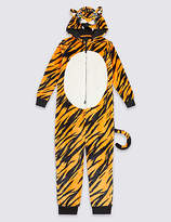 Marks and Spencer Tiger Hooded Onesie (1-16 Years)