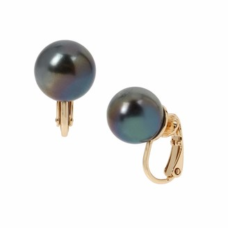 Kenneth Cole Oil Slick Pearl Clip-On Earrings 265631GLD967