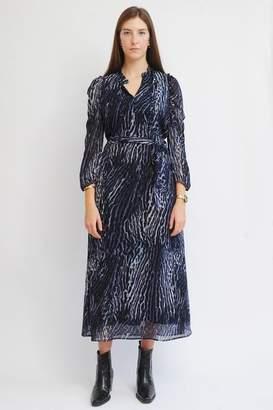 Pyrus - Maggie Midi Dress In Ocelot - L
