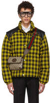 Gucci Yellow and Black Down Guccy Cat Jacket