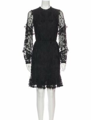 Needle & Thread Lace Pattern Knee-Length Dress w/ Tags Black
