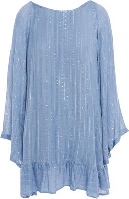SUNDRESS Indiana Tasseled Sequin-embellished Gauze Coverup