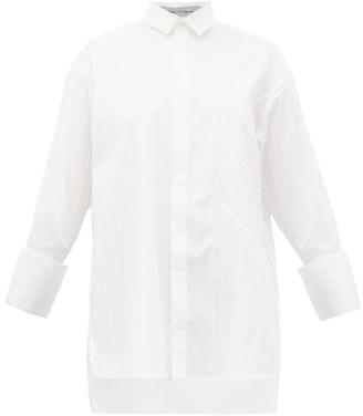 Palmer Harding Palmer//Harding Palmer//harding - Taraz Ribbed Cotton-blend Poplin Blouse - Womens - White