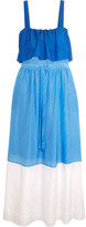 Diane von Furstenberg Color-block Cotton And Silk-blend Maxi Dress - Azure