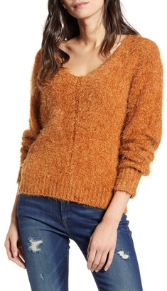 BP V-Neck Eyelash Chenille Sweater
