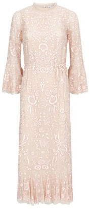 Needle & Thread Demetria Embroidered Dress