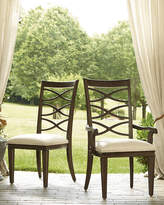Horchow Two Lenore Cross-Back Side Chairs