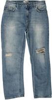 Acne Studios Pop Trash Distressed Cropped Jeans