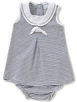 Edgehill Collection Baby Girls Newborn-6 Months Striped Nautical Dress