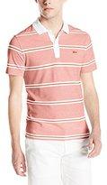 Lacoste Men's Short Sleeve Striped Pique Slim Fit Polo Shirt
