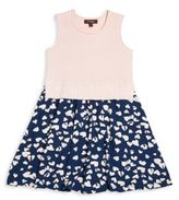 Imoga Toddler's, Little Girl's & Girl's Stella Heart-Print Sweater Dress