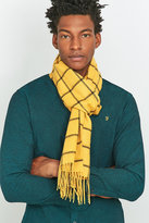 Urban Outfitters Mustard Window Check Scarf
