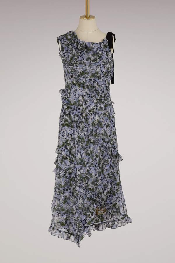 Erdem Zandra long asymmetrical dress