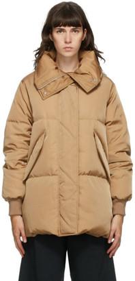 MM6 MAISON MARGIELA Beige Down Oversized Coat