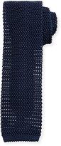 Peter Millar Silk Knit Contrast Tie, Navy