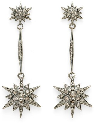 H.Stern Noble Gold and Diamond Stars Drop Earrings