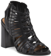 Made In Italy High Heel Strappy Leather Booties