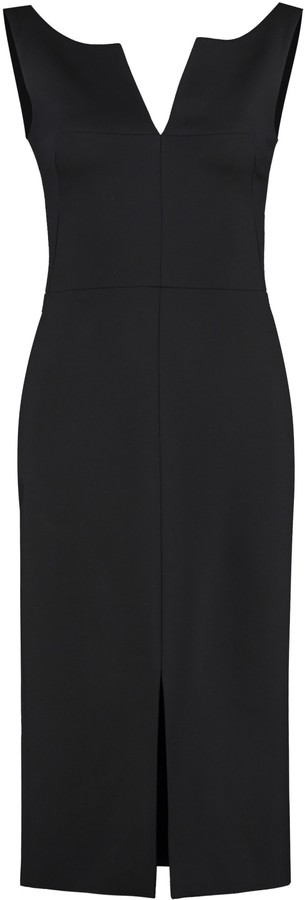 Thumbnail for your product : Alexander McQueen Wool-blend Sheath Dress