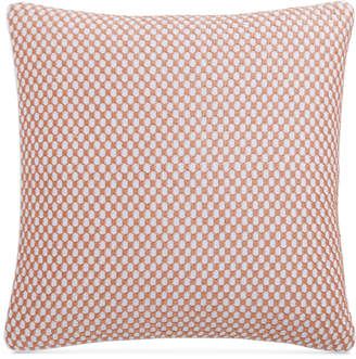 "Charter Club Damask Designs Embroidered Geometric 210-Thread Count 18"" x 18"" Decorative Pillow, Bedding"
