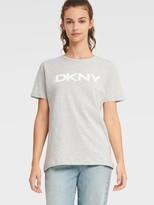 Donna Karan Donnakaran Logo Tee White/Black M
