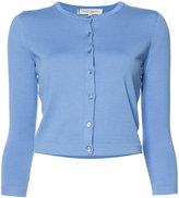 Carolina Herrera three quarter sleeve cardigan - women - Silk/Cotton - M