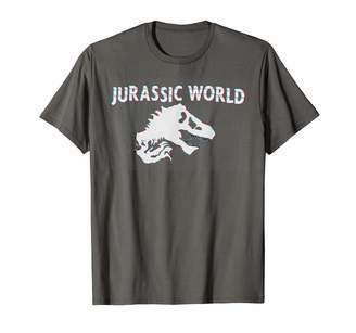 Fossil Jurassic World Glitchy Panel T-Rex T-Shirt