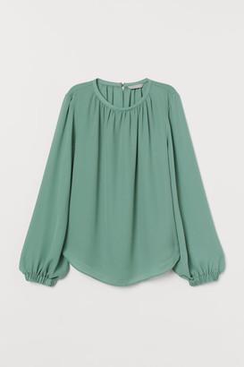 H&M Long-sleeved Blouse - Green
