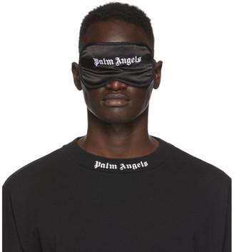 Palm Angels Black Silk Logo Eye Mask