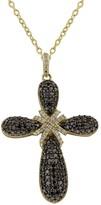 Effy Jewelry 14K Yellow Gold Black and White Diamond Cross Pendant