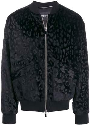 Just Cavalli leopard print bomber jacket