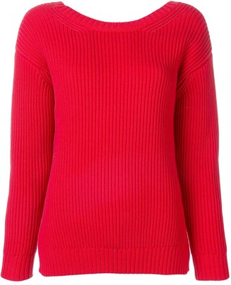 Chinti and Parker Deep V-Neck Knitted Sweater