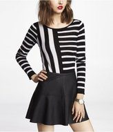 Express Mixed Stripe Bateau Neck Sweater