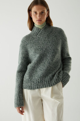 Cos Chunky Oversized Shawl Neck Jumper