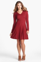 Vince Camuto Fit & Flare Sweater Dress