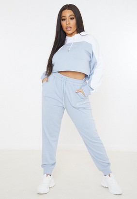 Missguided Plus Size Blue Co Ord Joggers