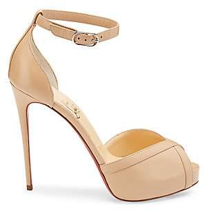 Christian Louboutin Women's Very Cathy Leather Platform Sandals