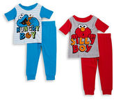 AME Sleepwear Little Boys Four-Piece Elmo Pajama Set