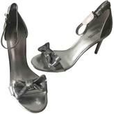 Michael Kors Silver Leather Heels