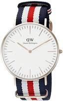 Daniel Wellington Men's Quartz Watch Classic Canterbury 0102DW with Plastic Strap