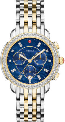 Michele 38mm Sidney Diamond Chronograph Two-Tone Watch
