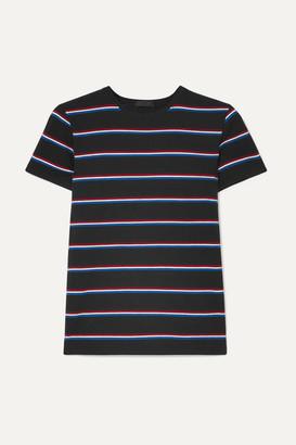 ATM Anthony Thomas Melillo Striped Stretch-pima Cotton Jersey T-shirt - Black