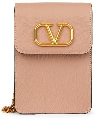 Valentino VLogo Leather Crossbody Pouch